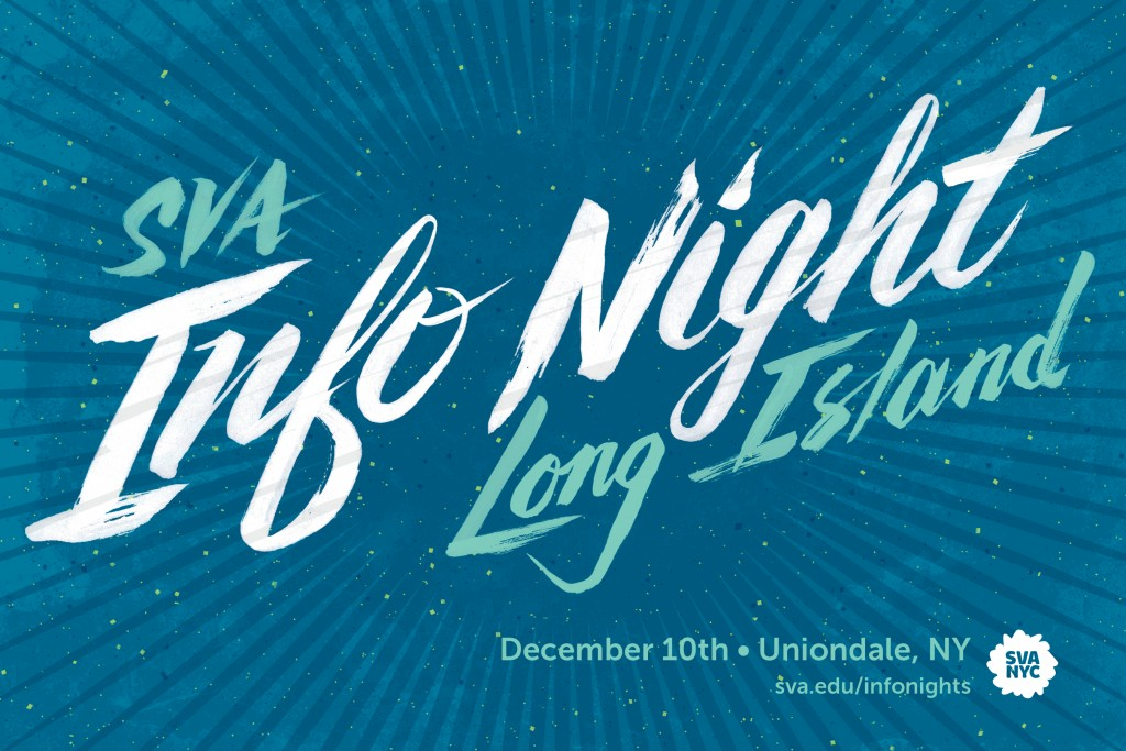 SVA Info Nights Long Island Postcard Design