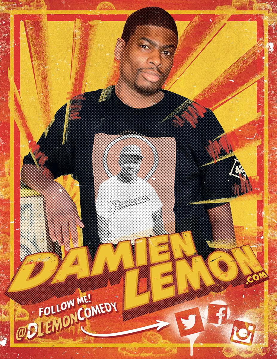 Damien Lemon Comedy Flyer